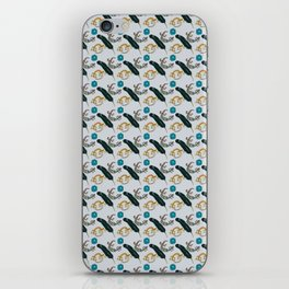 Funky Lizards, Feather, and Flower iPhone Skin