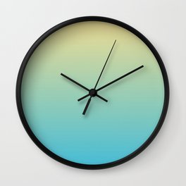 SUNSHINE ON THE BEACH Two colors ombre pattern Wall Clock