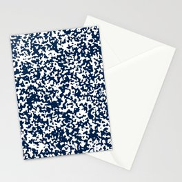Small Spots - White and Oxford Blue Stationery Cards