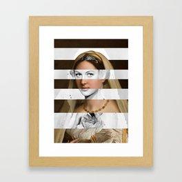 Raphael's Woman with a Veil & Hedy Lamarr Framed Art Print