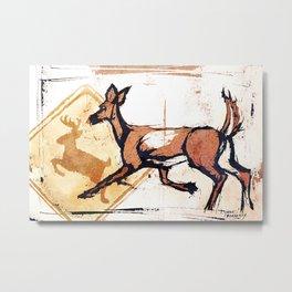 Suburban Deer 5 Metal Print