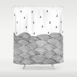 Rain and Sea Shower Curtain