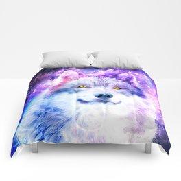 Cosmic Wolf Comforters