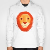 sad Hoodies featuring Sad lion by Lime