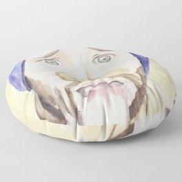 Jared Padalecki, watercolor painting Floor Pillow