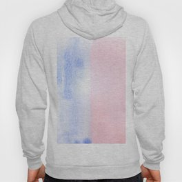 Blue and Red watercolor block Hoody