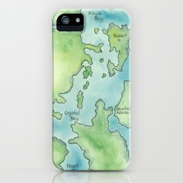 Go Home Lake - Nature Map iPhone Case