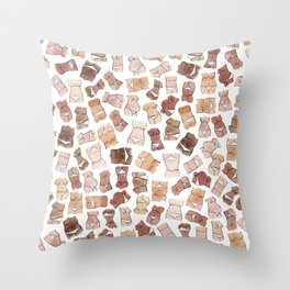 Hello, girls! // Boobs and butts Throw Pillow