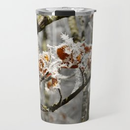 Frosted Leaves Travel Mug