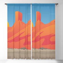 Desert Valley Landscape Scene Blackout Curtain