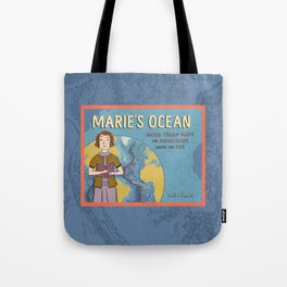 MARIE'S OCEAN Marie Tharp Maps the Mountains Under the Sea by Josie James Tote Bag