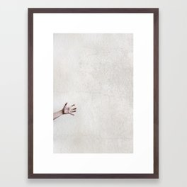 helpless. Framed Art Print