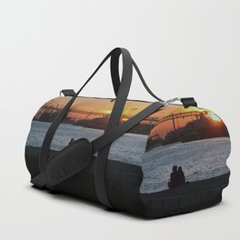 Daybreak on the river Duffle Bag