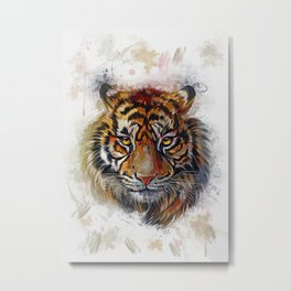 Tigers Eyes Metal Print