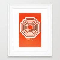 neon genesis evangelion Framed Art Prints featuring Neon Genesis Evangelion/AT FIELD/ by Stuff Alaska Does