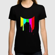 Colour Test Womens Fitted Tee MEDIUM Black