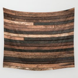 Vintage Wood Plank Wall Tapestry