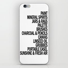 What a Plein Air Oil Painter Needs for a Perfect Day... iPhone Skin