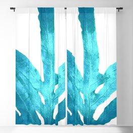 Ocean Blue Fern Blackout Curtain