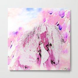 HORSE FANTASY PINK PARADISE Metal Print