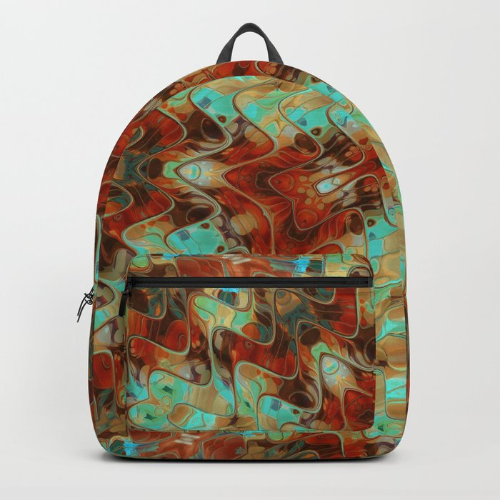 Scifi Rustic Geometric Backpack