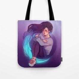 Blue glow Tote Bag