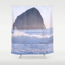 HAYSTACK ROCK - CAPE KIWANDA - PACIFIC CITY - OREGON Shower Curtain