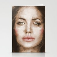 angelina jolie Stationery Cards featuring Jolie by Dnzsea