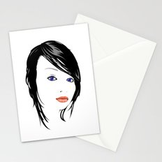 minimal girl 1 Stationery Cards
