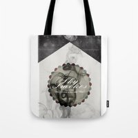 cigarettes Tote Bags featuring Sky Brand Cigarettes by Red 99