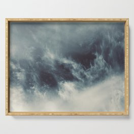 Ocean of clouds by Teresa Thompson Serving Tray