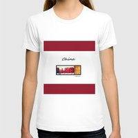 china T-shirts featuring China by L Bove Art