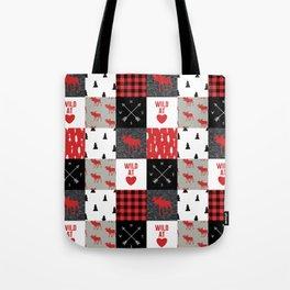 Wild At Heart Lumberjack Quilt Pattern Tote Bag