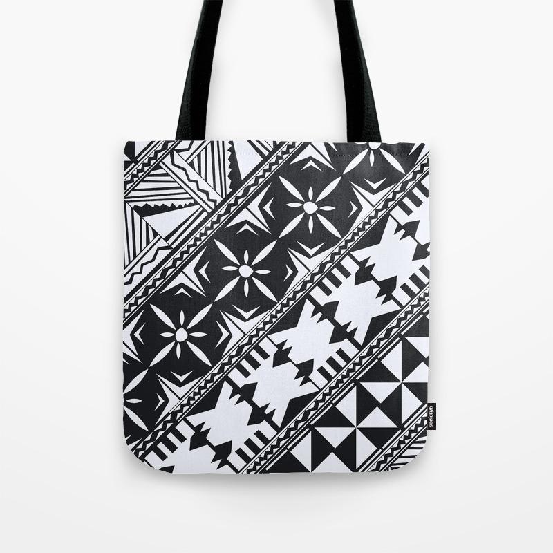 0dc5a034431 Fijian Masi design 2 Tote Bag