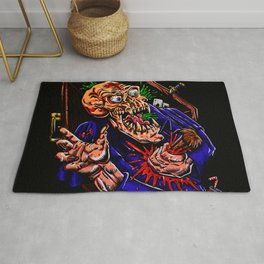Vampire zombie  cartoon illustration Rug