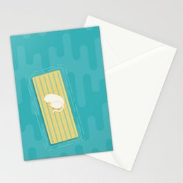 Taking a Nap - Teal Stationery Cards