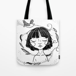 Free as a Bird - Ink Version Tote Bag