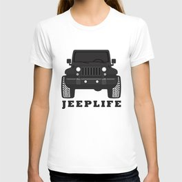 'JEEPLIFE' Black and white T-shirt