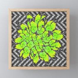 Butterflies 1 - Green 3 Framed Mini Art Print