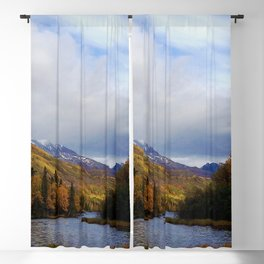 Matanuska River Alaska Blackout Curtain