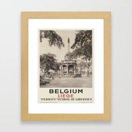 Vintage poster - Liege Framed Art Print