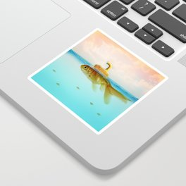 Submarine Goldfish Sticker