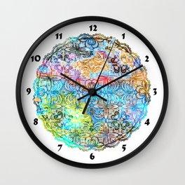 Colorful Manadala Wall Clock