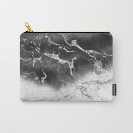Modern black and white marble ombre watercolor color block Carry-All Pouch