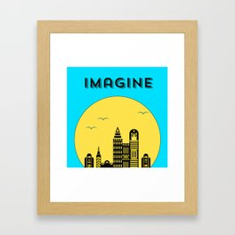 The Imaginary City Framed Art Print