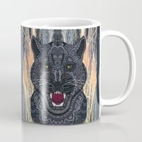panther Mugs featuring Panther by ArtLovePassion