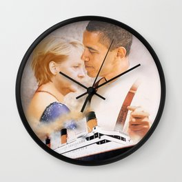 Obama and Merkel as Jack and Rose Wall Clock