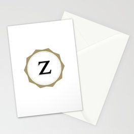 Vintage Letter Z Monogram Stationery Cards