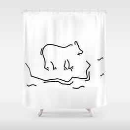 polar bear floe antartkis polar bear Shower Curtain
