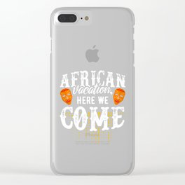African Vacation | Masks Safari Animals Clear iPhone Case